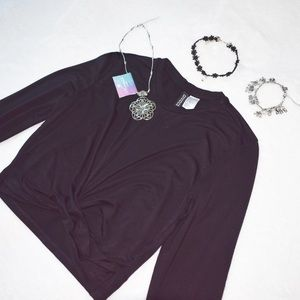 H&M Divided Black Knot Cropped Top